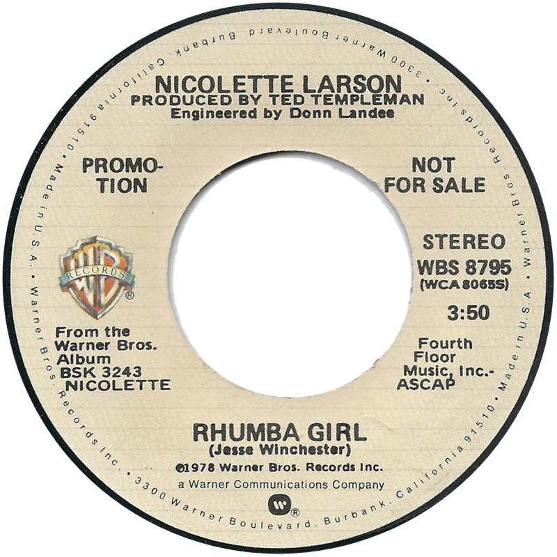 1979 Nicolette Larson – Rhumba Girl (US:#47)